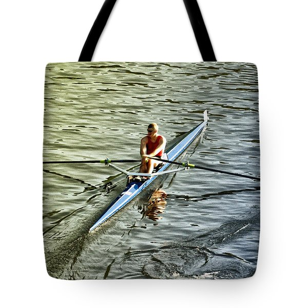 Rowing Crew Tote Bag by Bill Cannon