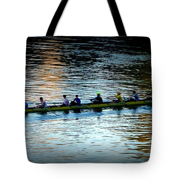 Rowing On The River Tote Bag by Susan Garren