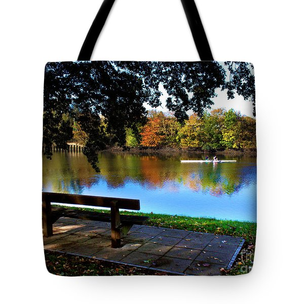 Rowing The Itchen In Autumn Tote Bag by Terri  Waters