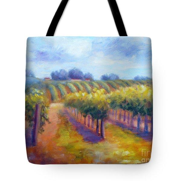 Rows Of Vines Tote Bag by Carolyn Jarvis