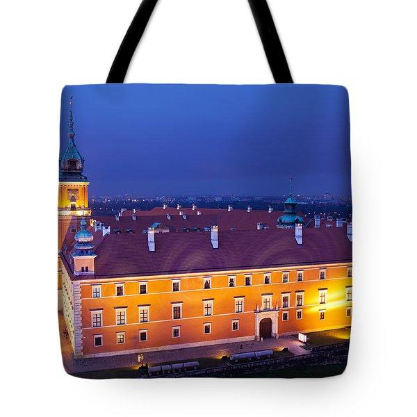 Royal Castle In Warsaw At Night Tote Bag by Artur Bogacki
