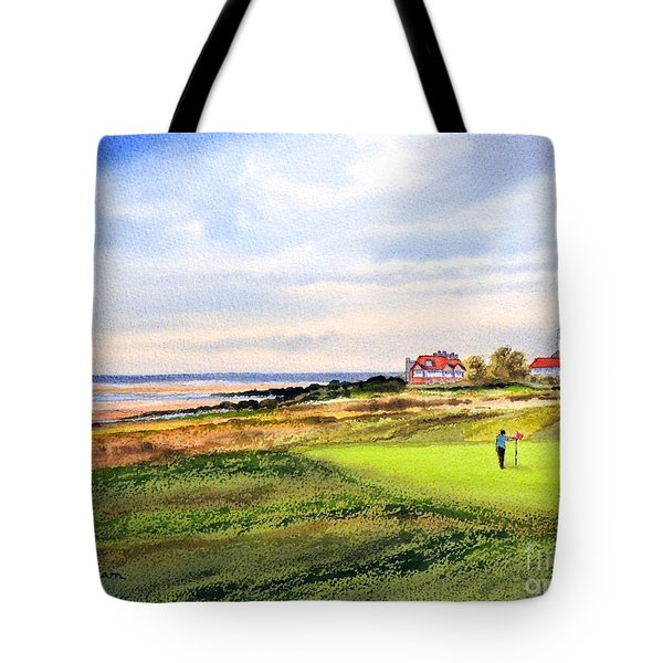 Royal Liverpool Golf Course Hoylake Tote Bag by Bill Holkham