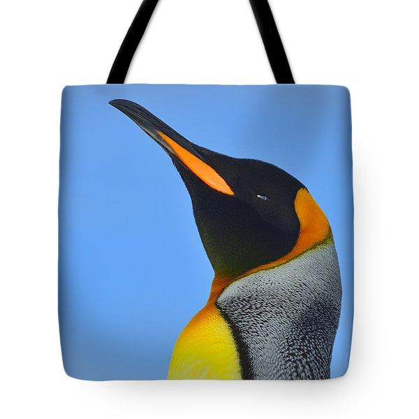 Royal Squinting Tote Bag by Tony Beck