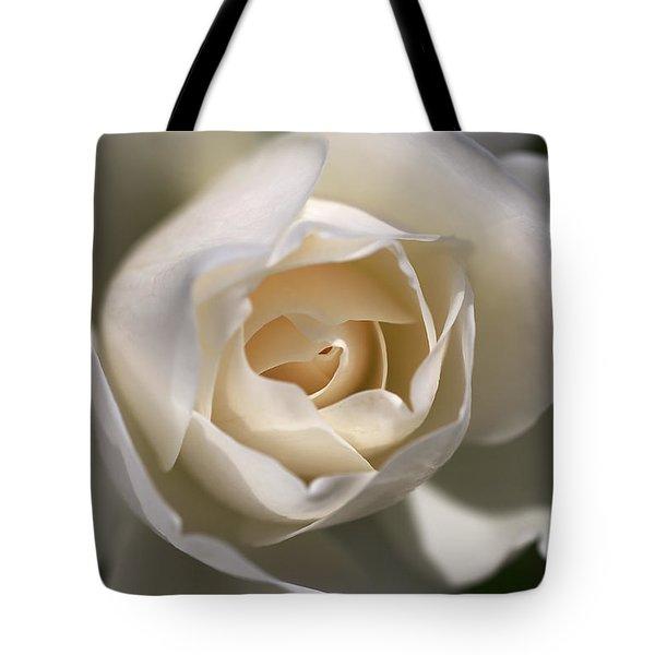 Royal White Tote Bag by Joy Watson