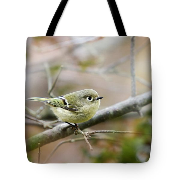 Ruby-crowned Kinglet Tote Bag by Christina Rollo