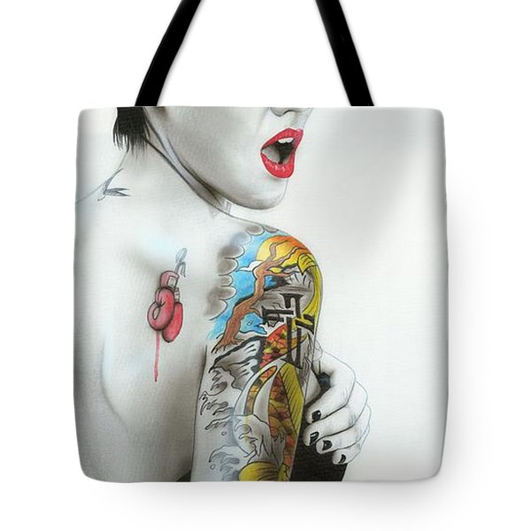 'ruby IIi' Tote Bag by Christian Chapman Art