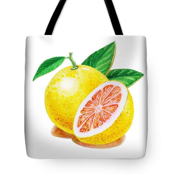 Ruby Red Grapefruit Tote Bag by Irina Sztukowski