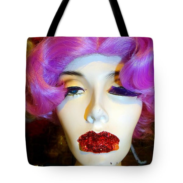Ruby Red Lips Tote Bag by Ed Weidman