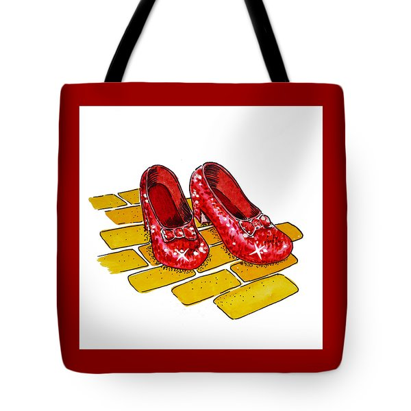 Ruby Slippers The Wizard Of Oz  Tote Bag by Irina Sztukowski