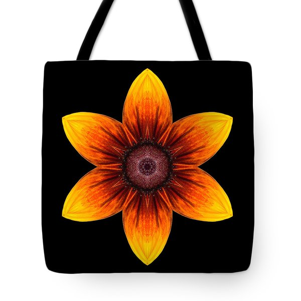 Rudbeckia I Flower Mandala Tote Bag by David J Bookbinder