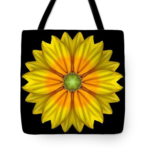 Rudbeckia Prairie Sun I Flower Mandala Tote Bag by David J Bookbinder