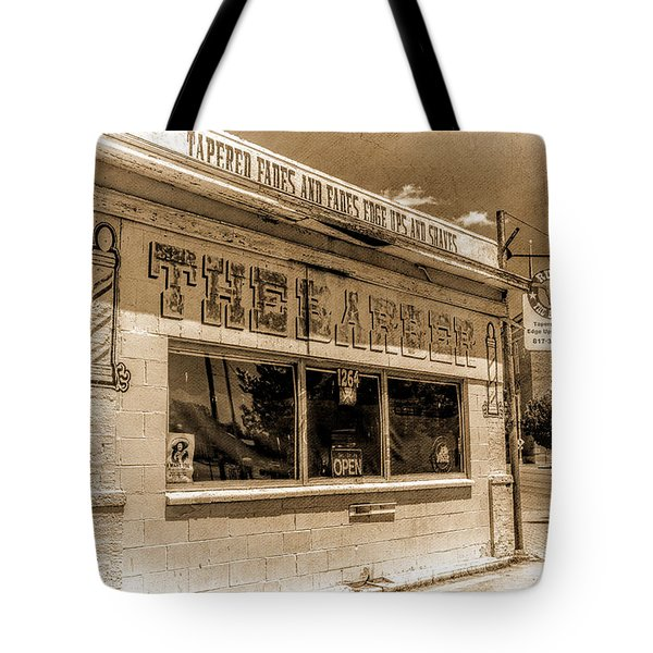 Rudy The Barber Tote Bag by Joan Carroll