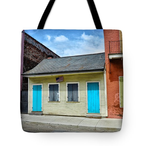 Rue Burgundy Tote Bag by Bill Cannon