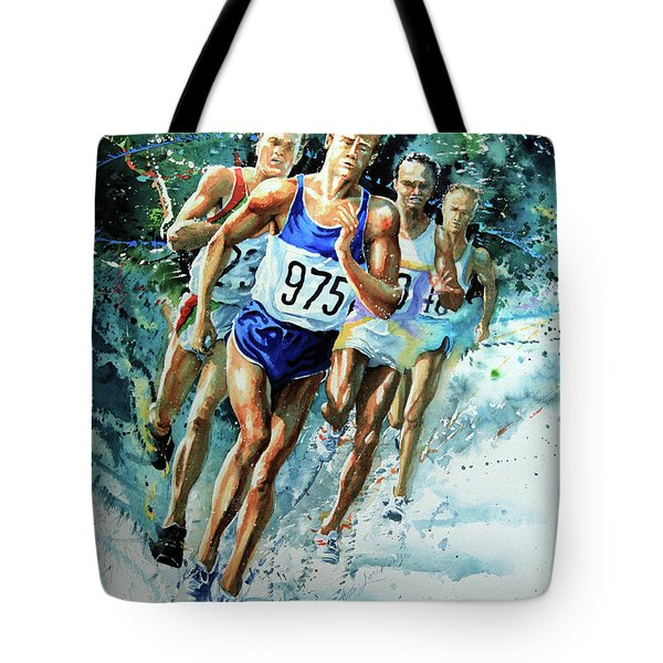 Run For Gold Tote Bag by Hanne Lore Koehler