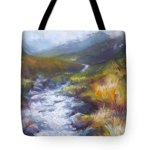 Running Down - Landscape View From Hatcher Pass Tote Bag by Talya Johnson