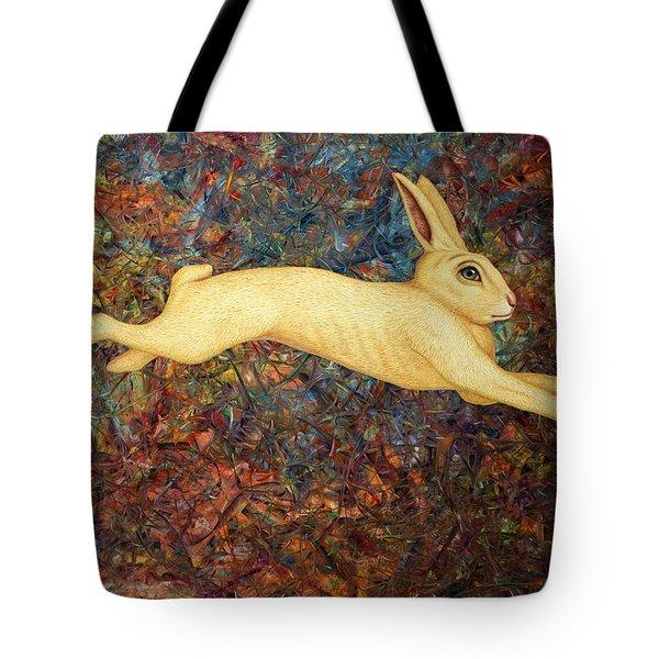 Running Rabbit Tote Bag by James W Johnson