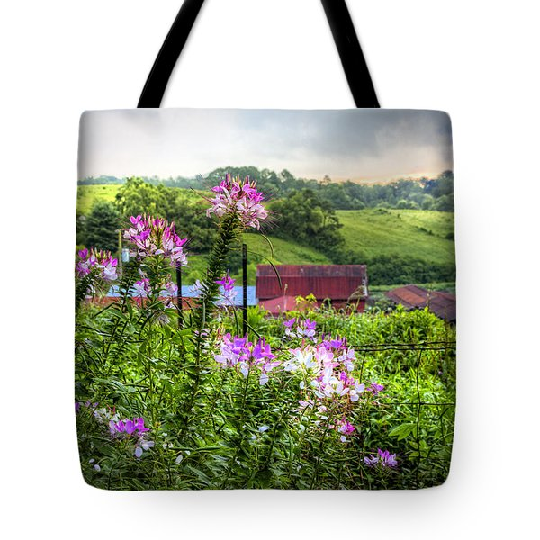 Rural Garden Tote Bag by Debra and Dave Vanderlaan