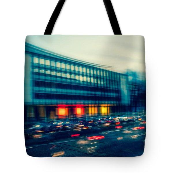 Rush Hour - Vintage Tote Bag by Hannes Cmarits