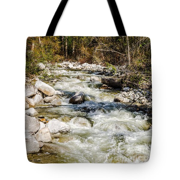 Rushing Water Tote Bag by Sue Smith