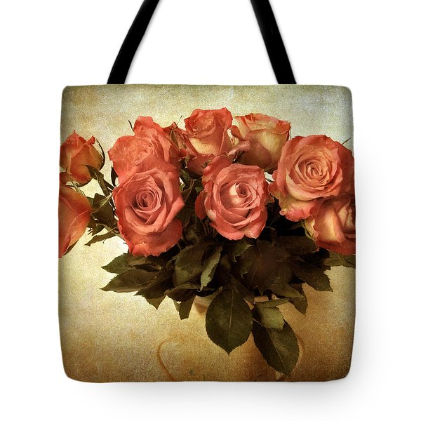 Russet Rose Tote Bag by Jessica Jenney