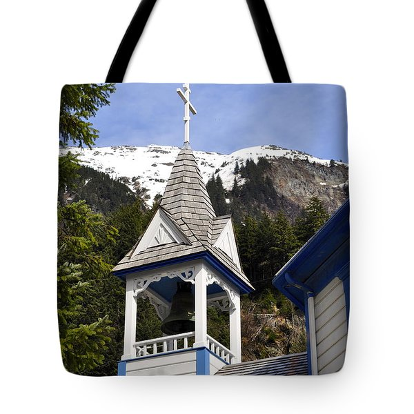 Russian Orthodox Church Bell Tower Tote Bag by Cathy Mahnke