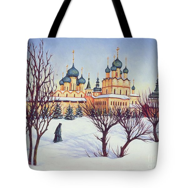 Russian Winter Tote Bag by Tilly Willis