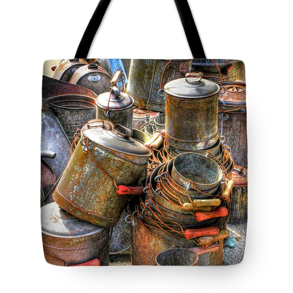 Rust Buckets Tote Bag by Douglas J Fisher