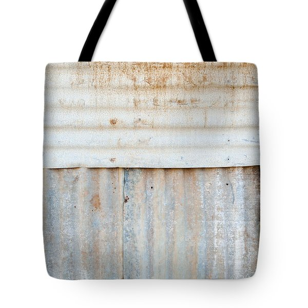 Rusted Metal Background Tote Bag by Tim Hester