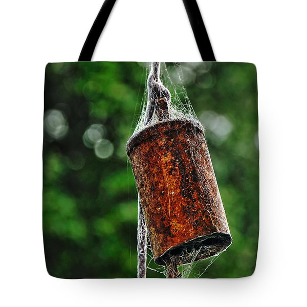 Rusted Old Cowbell Tote Bag by Kaye Menner