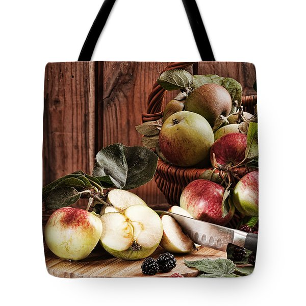 Rustic Apples Tote Bag by Amanda And Christopher Elwell