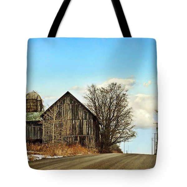 Rustic Country Barn Tote Bag by Christina Rollo