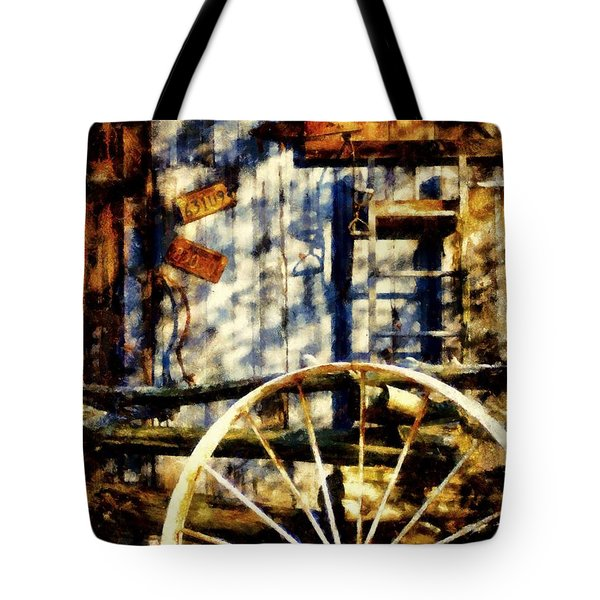 Rustic Decor Tote Bag by Janine Riley