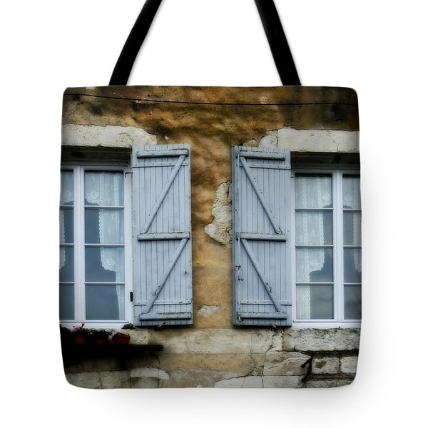 Rustic Wooden Window Shutters Tote Bag by Nomad Art And  Design