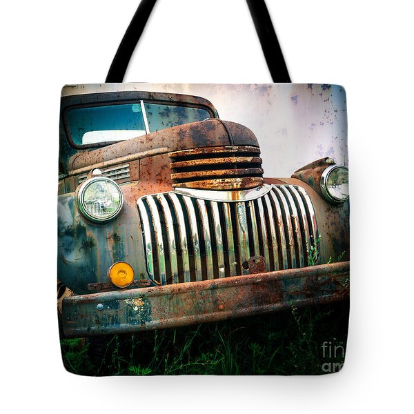 Rusty Old Chevy Pickup Tote Bag by Edward Fielding