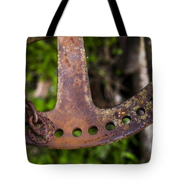 Rusty Plow Part Tote Bag by Steven Ralser