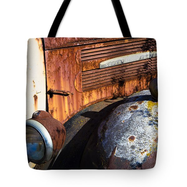 Rusty Truck Detail Tote Bag by Garry Gay