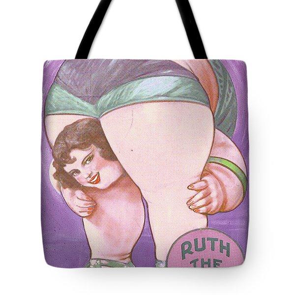 Ruth The Acrobat Circus Poster Tote Bag by Tony Rubino