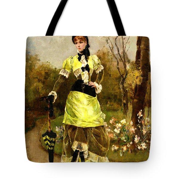 Sa Majeste La Parisienne Tote Bag by Alfred Stevens
