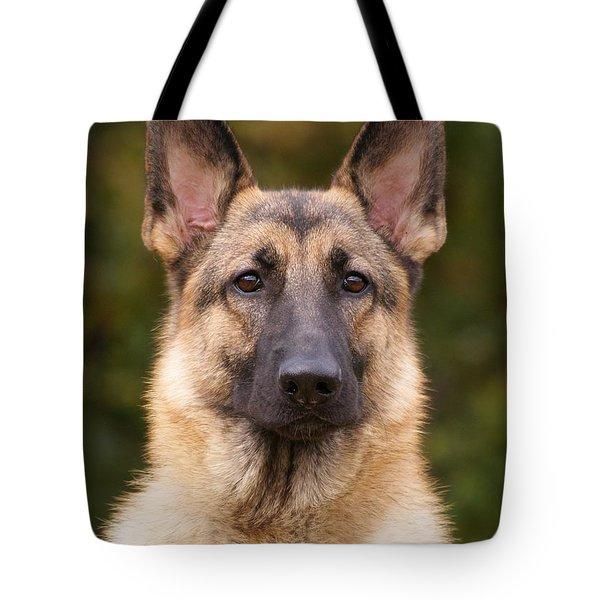 Sable German Shepherd Dog Tote Bag by Sandy Keeton