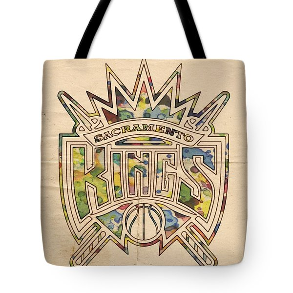 Sacramento Kings Poster Art Tote Bag by Florian Rodarte