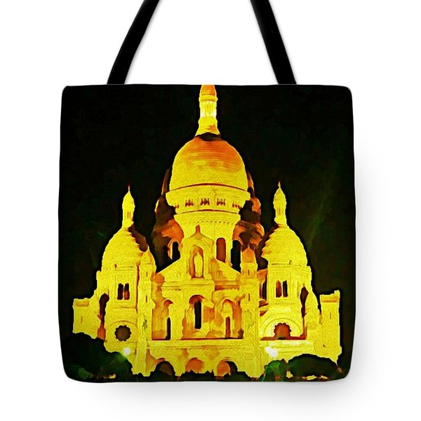 Sacre-coure Cathedral Paris Tote Bag by John Malone