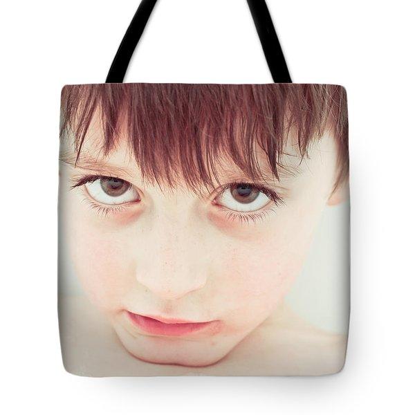 Sad Child Tote Bag by Tom Gowanlock