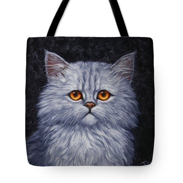 Sad Kitty Tote Bag by Crista Forest