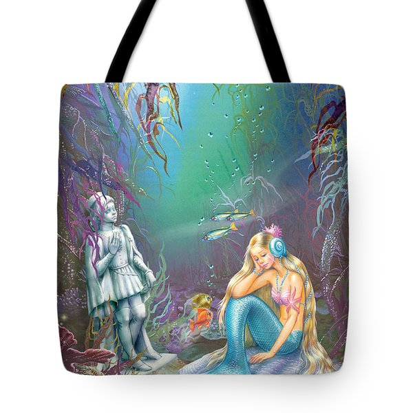Sad Little Mermaid Tote Bag by Zorina Baldescu