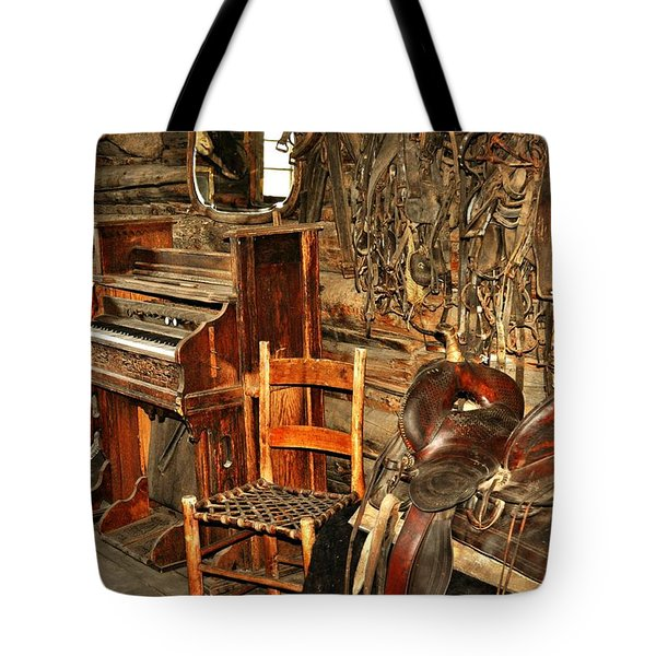 Saddle And Piano Tote Bag by Marty Koch