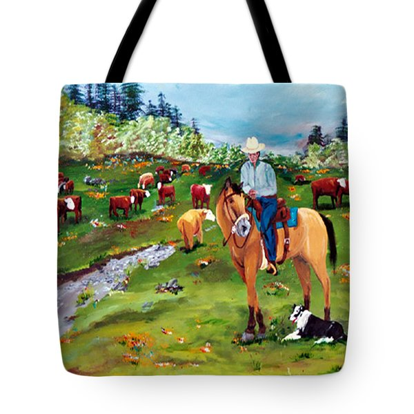 Saddle Pals Tote Bag by Gail Daley