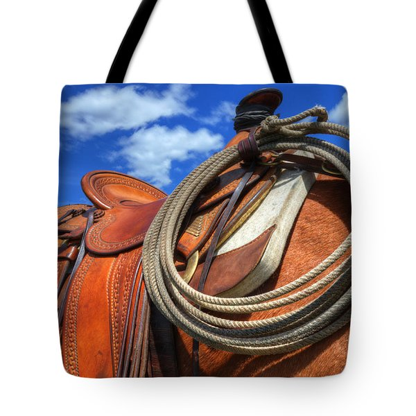 Saddle Up Tote Bag by Bob Christopher
