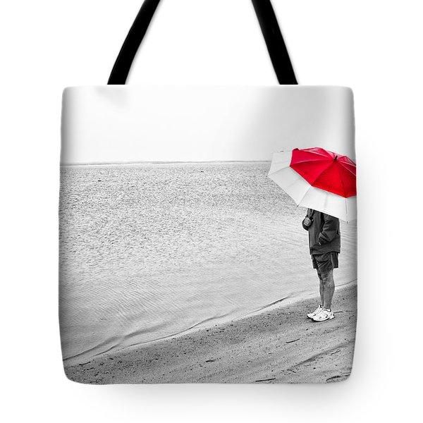Safe Under The Umbrella Tote Bag by Karol Livote