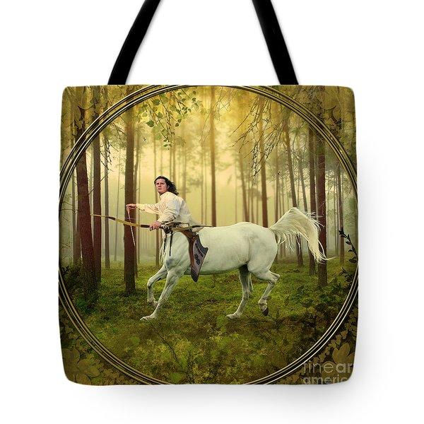 Sagittarius Tote Bag by Linda Lees