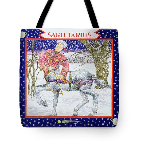 Sagittarius Wc On Paper Tote Bag by Catherine Bradbury